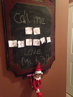 Our elf just arrived and we couldn't decide on a name. Everyone wrote and 2 names and we let her decide!