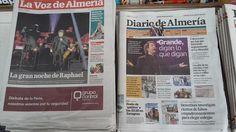 Prensa en Almeria de hoy  Concierto de @Raphaelartista !!
