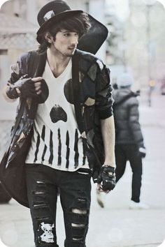 I'm not a man, but this is one of my favorite looks on guys... who can pull it off.
