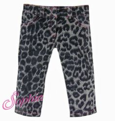 Leopard Animal Print Jeans Doll Clothes Fits 18 Inch American Girl #18inchdollclothes