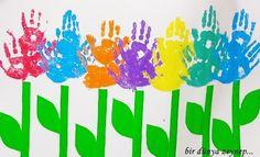 to replace my snowflake handprints...  kindergarten is in full bloom!