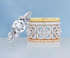 De Beers stackable rings