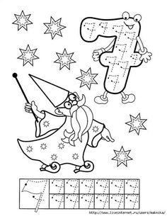 Numbers handwriting sheets for kids Preschool Printables, Preschool Worksheets, Kindergarten Math, Preschool Activities, Math For Kids, Fun Math, Math Games, Learning Activities, Coloring For Kids