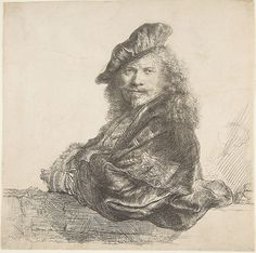 Rembrandt (Rembrandt van Rijn) (Dutch, 1606–1669). Self-Portrait, Leaning on a Stone Wall, 1639. The Metropolitan Museum of Art, New York. Gift of John J. Glessner III, 1947 (47.142.1)