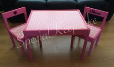 A personal favorite from my Etsy shop https://www.etsy.com/uk/listing/241275994/personalised-childrens-table-and-chair