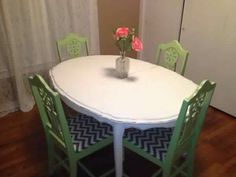 I really love my chalk paint table & chairs