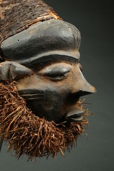 MBUYE MASK | Virtual Tribal and Textile Art Shows New Orleans, New York, Rite Of Passage, Male Figure, Ivory Coast, West Africa, Tribal Art, Republic Of The Congo, Textile Art
