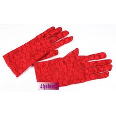 Buy Best Red Lace Embroidered Short Bridal Wedding Ball Dress Gloves SKU-11201038