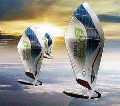 Concept - Zeppelin : Le designer industriel, Monsieur Damien Grossemy... a dessiné un véhicule hypothétique afin de faire découvrir la nouvelle gamme de véhicules électriques de chez Renault! Pers...