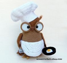 Omelette the owl - amigurumi PDF crochet pattern