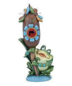Love this Frog & Cattail Garden Statue on #zulily! #zulilyfinds