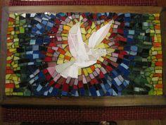 "My mosaic dove ""Pearl."""