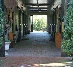 Barn Aisle- something about this speaks to my soul; the peek of green, blankets not yet hung...