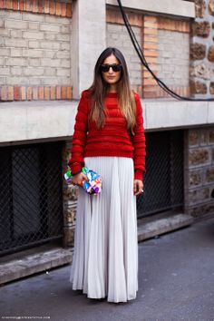 long pleated skirt | Long Pleated Skirts | Elbows & Knees