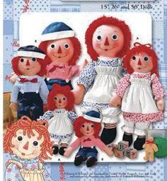 Raggedy Ann & Andy Dolls Pattern