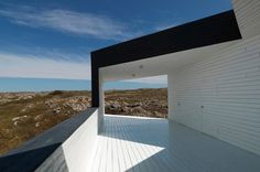 Norwegian architect studio Saunders Architecture were asked by The Shorefast Foundation and the Fogo Island Arts Corporation to design a series of six artist studios on Fogo Island, Canada