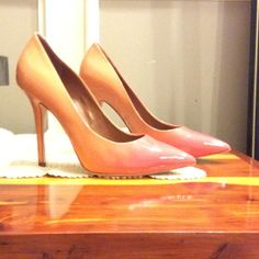 Heels Hombre coral 4 1/2 in heels. Look sassy on. Have had gentle wear indoors only and are stored in box. Boutique 9 Shoes Heels