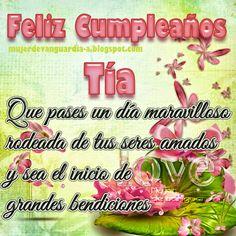 Tarjeta de Feliz cumpleaños querida Tía