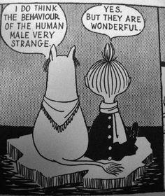I do think the behaviour of the human mal very strange. | FUCK YEAH MOOMINS
