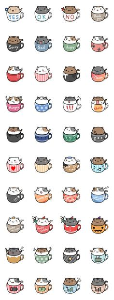 Neko cat kitty coffee mug tea mug kawaii Nian café ❤ melhor lugar Chat Kawaii, Kawaii Cat, Kawaii Stuff, Kawaii Things To Draw, Kawaii Names, Kawaii Chibi, Cute Chibi, Anime Pokemon, Cute Wallpapers