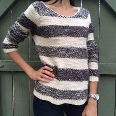 Free people stripe sweater! Free people stripe sweater! Size small. BUNDLE and SAVE! Free People Sweaters Crew & Scoop Necks