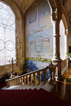 The staircase @ Bussaco Palace, one of my favorite places to stay in Portugal. So beautiful!