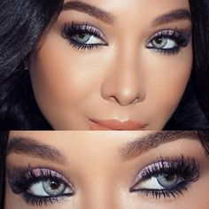 I really need to know brand name and color of these colored contact lenses !!! These contacts are so so so beautiful <3 #vegas_nay #eye #color #contacts Light Bluish Gray colored contacts, Grayish baby blue colored contact lenses  ... they may be Solotica Topazio that she was wearing before? ☞ https://www.pinterest.com/pin/317503842456447639/