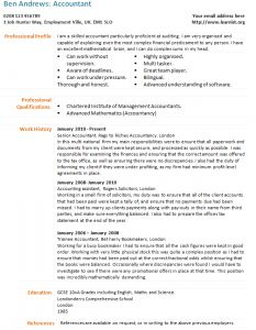 waiter cv example   job   pinterest   cv examplesaccountant cv example