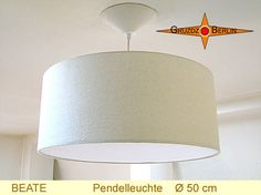 LoungeLeuchte BEATE Ø 50 cm Hängelampe mit Diffusor Baldachin Seide