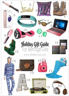 HOLIDAY GIFT GUIDE: Gifts for Teen Girls Looking for gifts for the teenager on your list? I have you covered with my top 20 picks for the teen girl your Christmas shopping list! Cool Gifts For Teens, Christmas Gifts For Teen Girls, Tween Girl Gifts, Birthday Gifts For Teens, Diy Christmas Gifts, Holiday Gifts, Teen Girl Birthday, Homemade Christmas, Gifts For Tweens