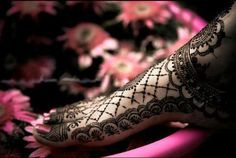 Beautiful intricate wedding mehndi design