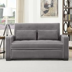 The Serta Augustine Convertible Sofa Bed is magical! This pull out has 3 configurations: Sofa, lounger and bed. Full and Queen sizes. Futon Sofa Bed, Chair Bed, Narrow Living Room, Living Room Sofa, Convertible Couch Bed, Sofas, Sofa Bed Design, Couch Furniture, Furniture Ideas