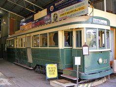 Ballarat tram No. 39. No longer operational it is now a museum and souvenir shop inside the depot.