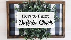How to paint a buffalo check plaid sign FallCrafts BuffaloCheck BuffaloCheckPlaid 287597126194470787 Buffalo Check Christmas Decor, Plaid Decor, Balkon Design, Weekend Crafts, Diy Kitchen Storage, Kitchen Organization, Organization Ideas, Storage Ideas, Style Vintage
