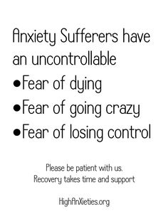Fear of dying isn't a big thing for me however the fear of losing those I love can be pretty overwhelming at times.