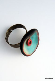 Polymer clay ring by AnarinaAnar on Etsy, €14.00