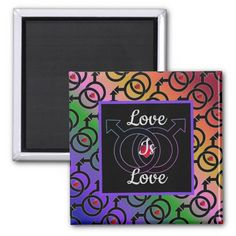 Shop Gay Marriage Love Is Love Rainbow Magnet created by BlueRose_Design. Love Rainbow, Rainbow Pride, Paper Cover, Magnets, Gay, Marriage, Shapes, Cool Stuff, Create