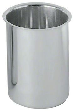 Stainless Steel Bain Marie Pots by houzz: These pots, which are great for warming up and keeping food warm, are also handy for holding utensils and other small kitchen accessories. #Kitchen #Storage
