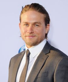 Handsome as ever, Charlie made a dapper arrival at the Sons of | Charlie Hunnam's Superhot Hollywood Evolution in 35 Photos | POPSUGAR Celebrity