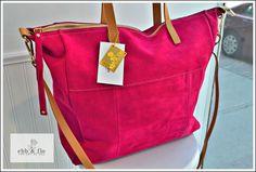 LOLA in Fuchsia Fun on the Run Genuine Suede Big Bag from ebb & flo Italian Leather Handbags, Big Bags, Boutique, Fun, Large Bags, Boutiques, Totes, Lol, Funny