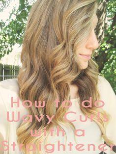 The Simple Aesthetic Life: How to do Wavy Curls with a Straightener - Beauty Darling I Like Your Hair, Love Hair, Curls With Straightener, Wavy Curls, Hair Pictures, Bad Hair, Hair Today, Hair Dos, So Little Time