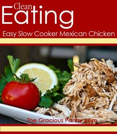 Slow Cooker Mexican Chicken. Perfect for tacos! #GlutenFree