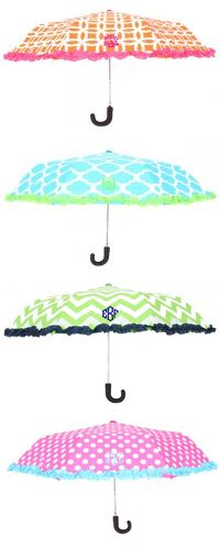 Monogrammed Umbrella from Marleylilly.com. Brighten even the cloudiest of days with our Monogrammed Umbrella! Available in 4 dazzling and colorful patterns.