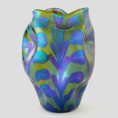 """** Johann Lötz Witwe, Klostermühle, Iridescent Glass Vase. Decor: """"Phänomen Gre 2/450"""""""
