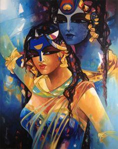 Shiv Parvati In Rhythm I've Artist N P Razeshwarr