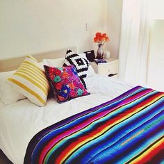SPOTTED: The lovely room of @stephashby enjoy her Dos Ombré FLORAL KALEIDOSCOPE cushion & IN RAINBOWS blanket ❤