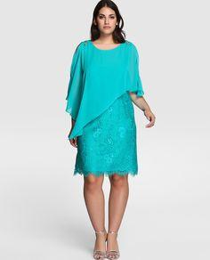Vestido de fiesta de mujer talla grande Couchel con capa · Couchel · Moda · El Corte Inglés