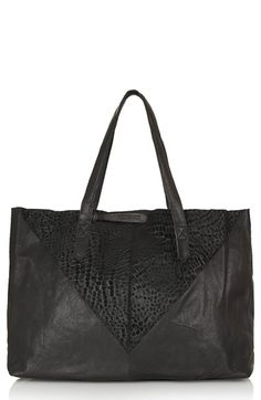 Topshop Leather & Suede Shopper Bag available at #Nordstrom