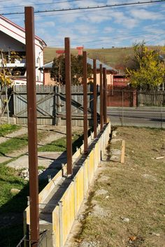 Industrial Hardware, Concrete Projects, Railroad Tracks, Projects To Try, Exterior, Gardens, Concrete Retaining Walls, Fences, Close Board Fencing