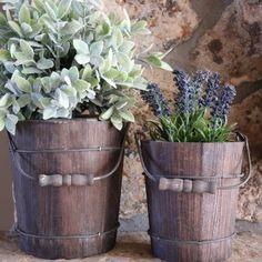 Rustic Bucket Set